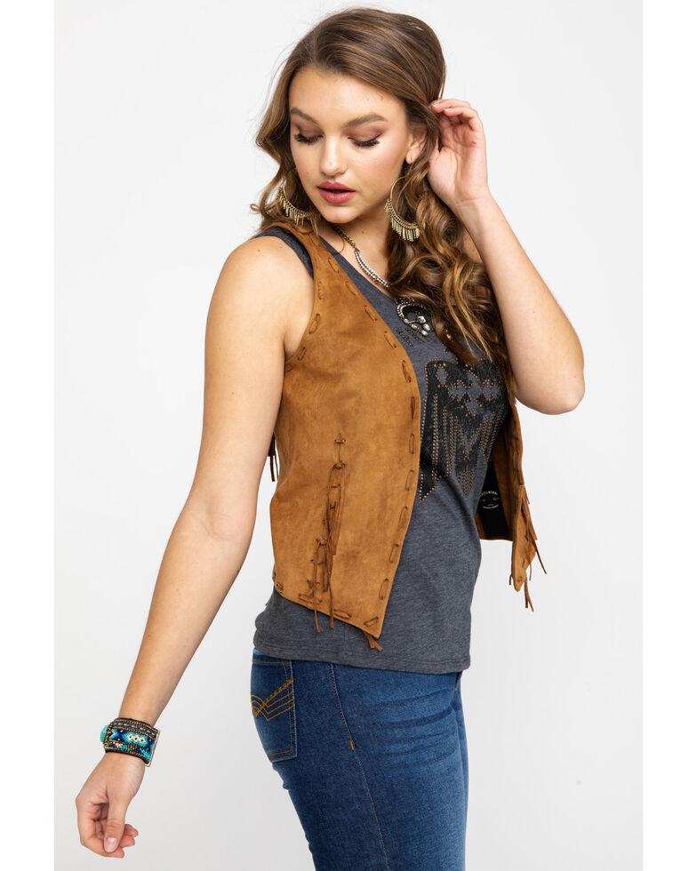 Idyllwind Women's Wild West Vest , Tan, hi-res