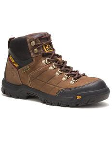 Caterpillar Men's Threshold Waterproof Work Boots - Soft Toe, Brown, hi-res