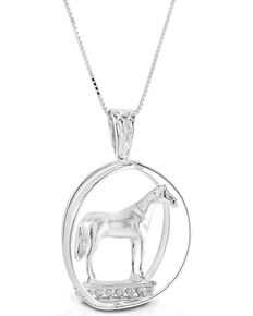 Kelly Herd Women's Large World Trophy Necklace , Silver, hi-res