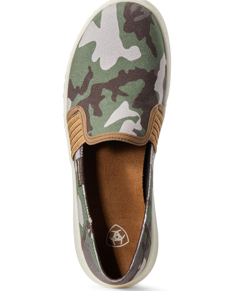 Ariat Women's Ryder Camo Print Slip-On Shoes, Multi, hi-res