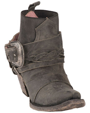 Junk Gypsy by Lane Women's HWY 237 Distressed Booties - Snip Toe, Black, hi-res