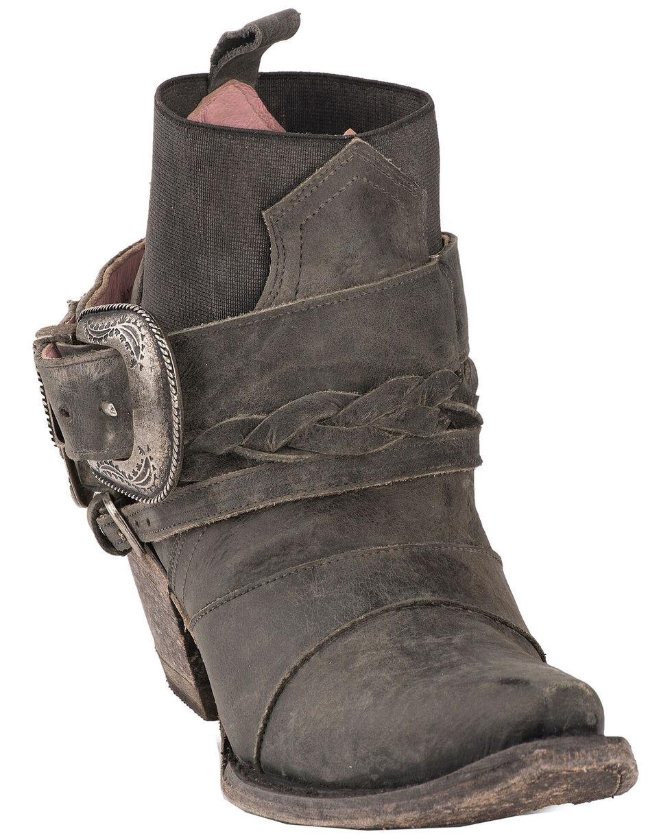 Junk Gypsy by Lane Women's HWY 237 Distressed Booties - Snip Toe, Black, hi-res