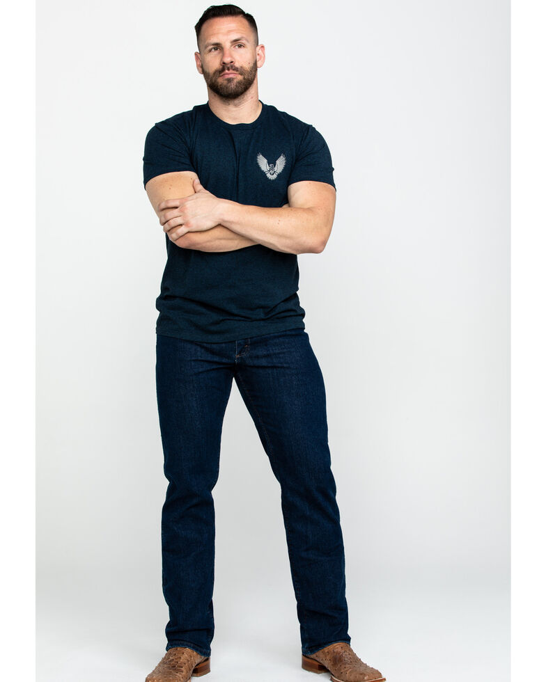 Moonshine Spirit Men's Regal Eagle Graphic T-Shirt , Navy, hi-res
