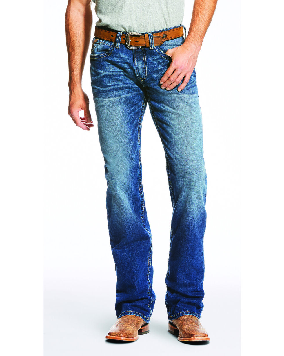 Ariat Men's Blue M4 Low Rise Jeans - Boot Cut , Blue, hi-res