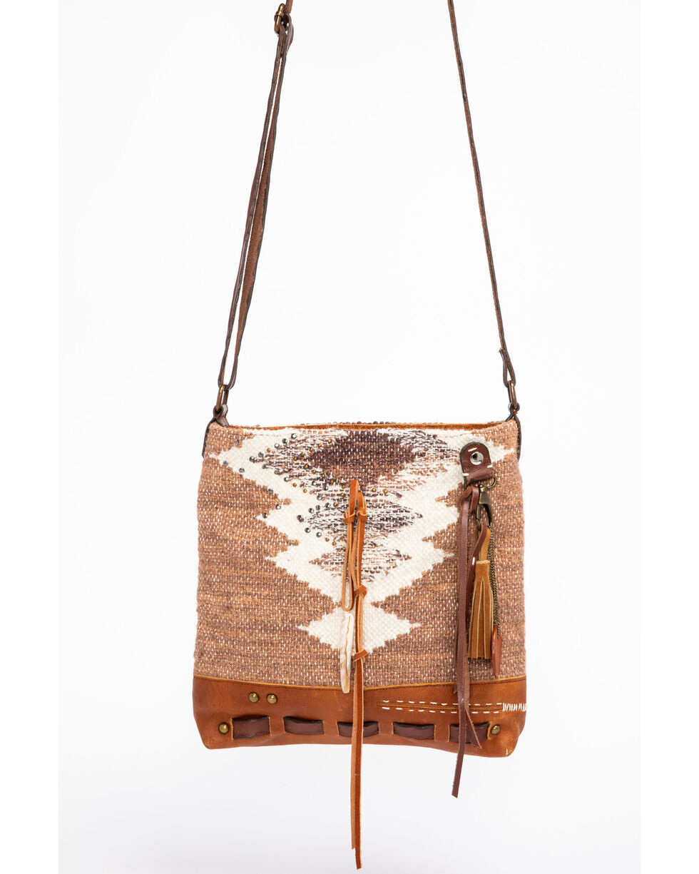 Idyllwind Women's Wanderer Serape Shoulder Bag, Brown, hi-res