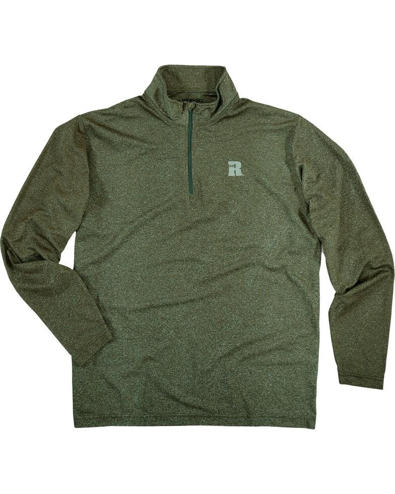 Wrangler Riggs Men's Olive Workwear 1/4 Zip Pullover Shirt - Big & Tall , Olive, hi-res