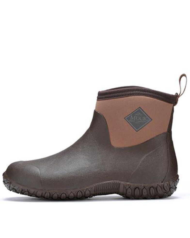 Muck Boots Men's Muckster II Ankle Rubber Boots - Round Toe, Bark, hi-res