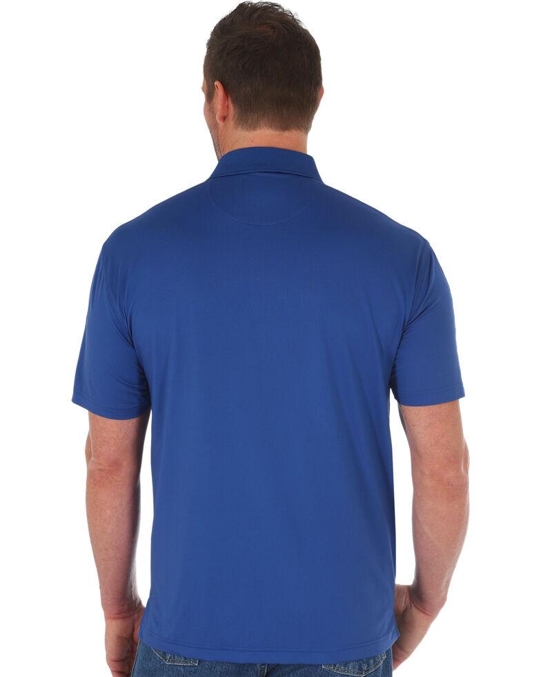George Strait by Wrangler Men's Navy Performance Short Sleeve Polo Shirt , Navy, hi-res