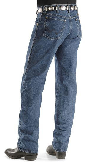 Wrangler 47MWZ Premium Performance Cowboy Cut Regular Fit Prewashed Jeans, Dark Stone, hi-res