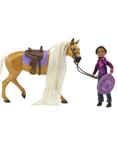 Breyer Girls' Charm & Gabi Western Rider Toy Set, No Color, hi-res