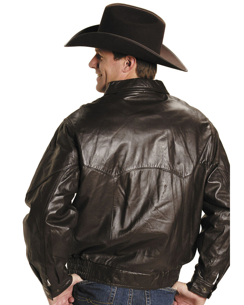 Roper Lamb Nappa Bomber Jacket - Big & Tall, Brown, hi-res