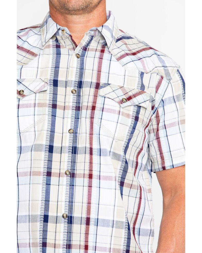 Moonshine Spirit Men's Ol' Mexico Dobby Plaid Short Sleeve Western Shirt , Multi, hi-res