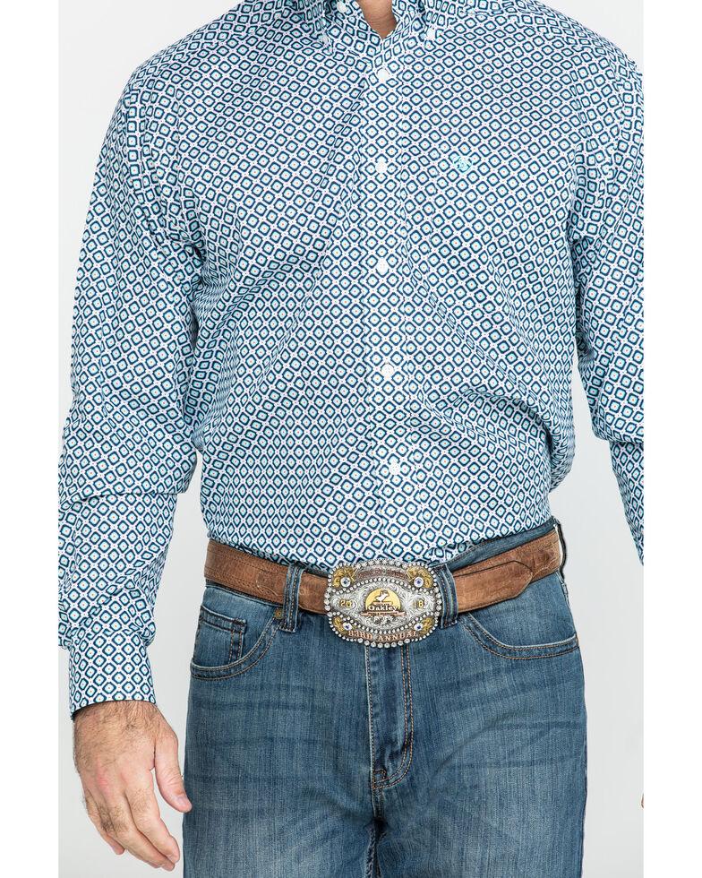 Ariat Men's Wrinkle Free Porterville Aztec Geo Print Long Sleeve Western Shirt - Tall , , hi-res