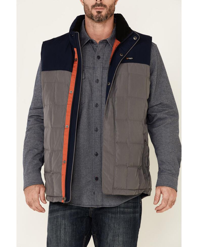 Hawx Men's Grey Colorblock Whistler Insulated Work Vest , Grey, hi-res