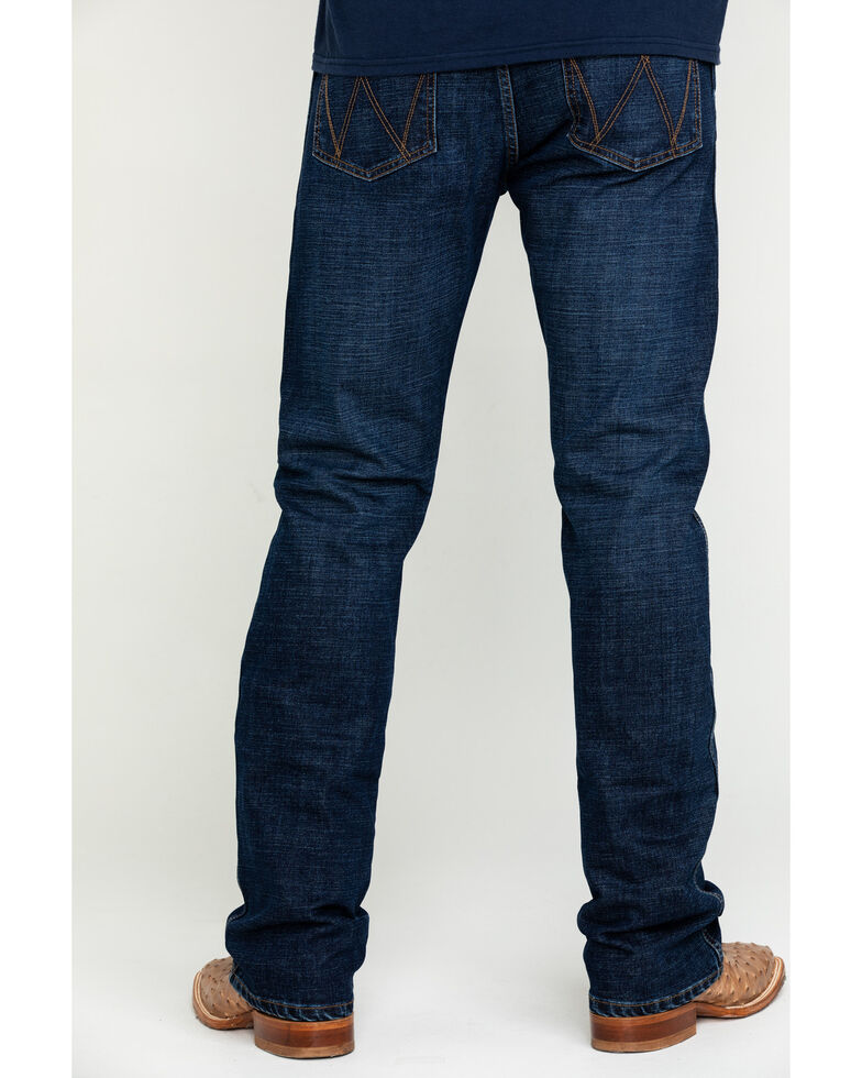 Wrangler Retro Men's Bryson Dark Stretch Slim Bootcut Jeans , Indigo, hi-res