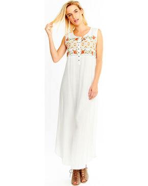 Aratta Women's White Garden Party Maxi Dress , White, hi-res