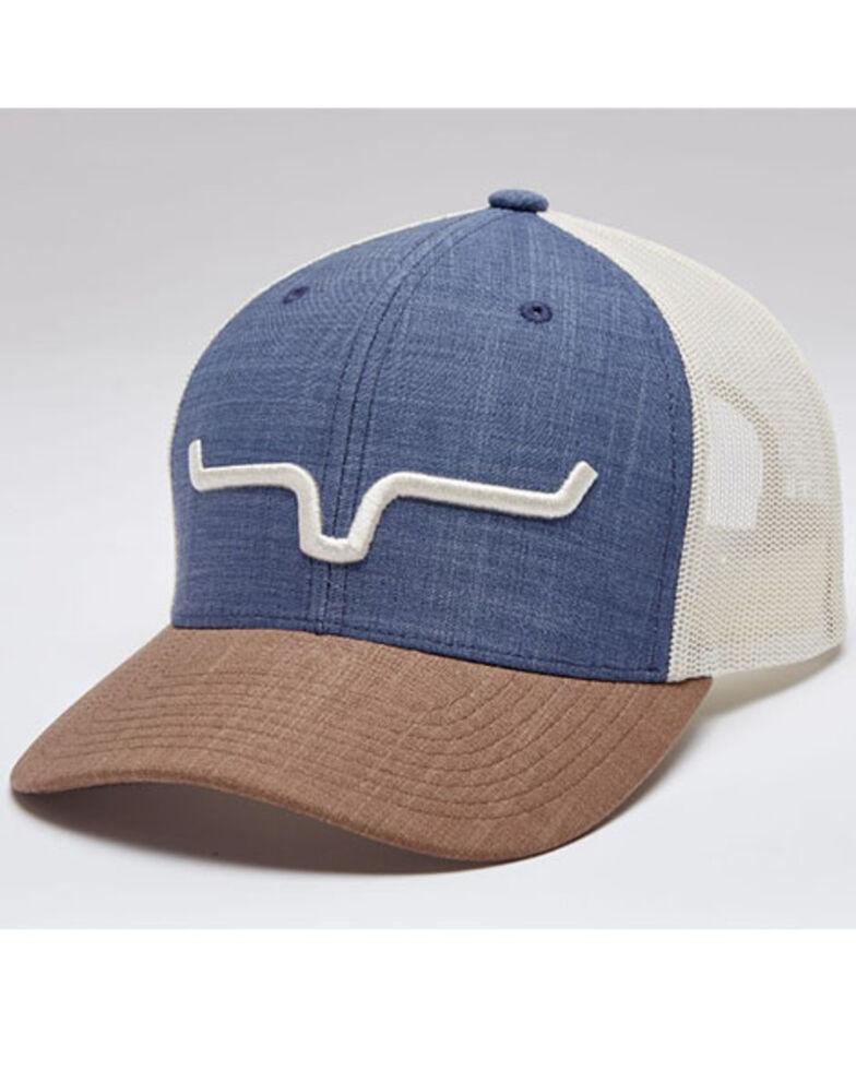 Kimes Ranch Men's Blue & Brown Weekly Mesh-Back Trucker Cap , Blue, hi-res