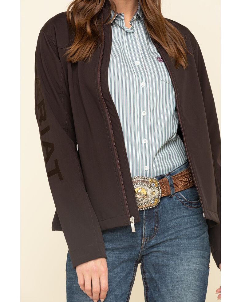 Ariat Women's Classic Team Patriot Softshell Jacket , Coffee, hi-res