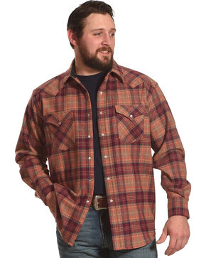 Pendleton Men's Sunset Canyon Plaid Shirt Jacket, Orange, hi-res