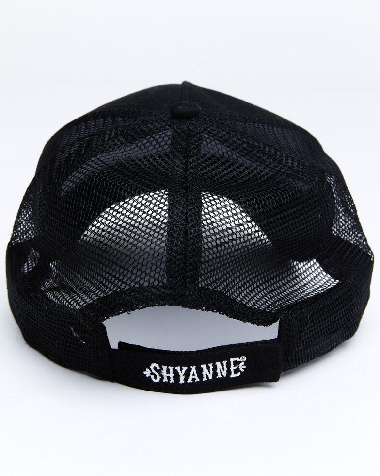 Shyanne Women's Whiskey Bandit Embroidered Mesh Cap , Black, hi-res