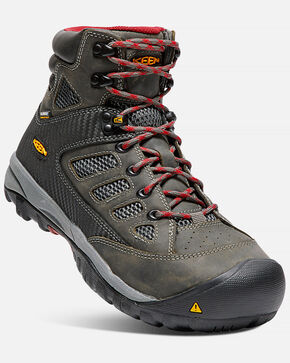 Keen Men's Tuscon Waterproof Work Boots - Steel Toe, Black, hi-res