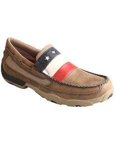 Twisted X Men's VFW Stars and Stripes Driving Mocs , Bomber, hi-res