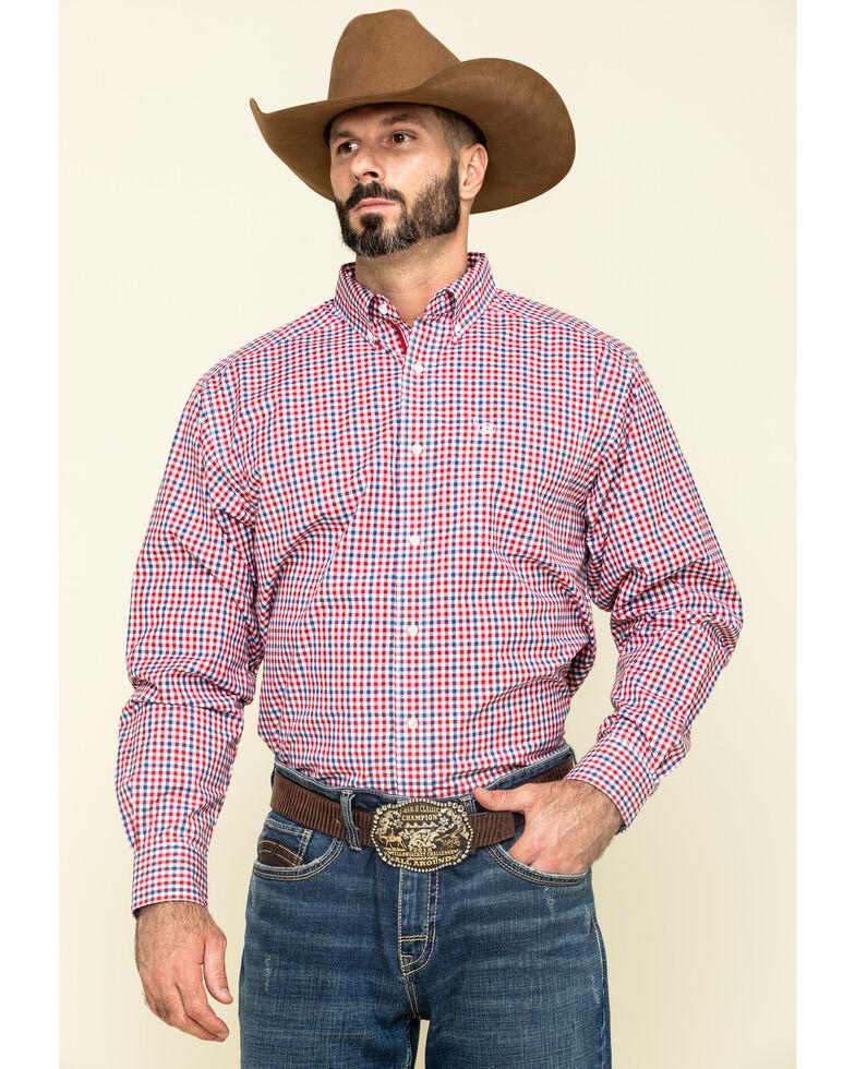 Ariat Men's Tolland Check Plaid Long Sleeve Western Shirt - Tall , Multi, hi-res