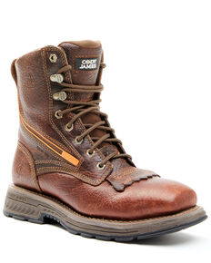 Cody James Men's Disruptor Work Boots - Nano Composite Toe, Brown, hi-res
