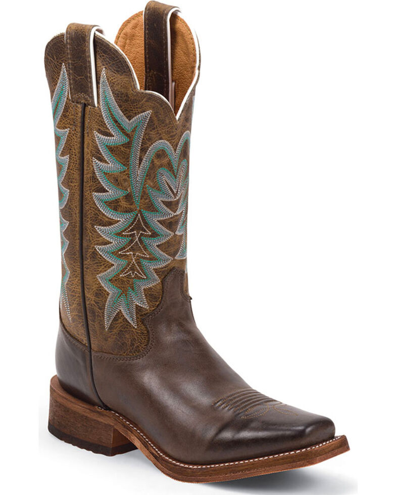 Justin Women's Guthrie Chocolate Cowgirl Boots - Square Toe, Chocolate, hi-res