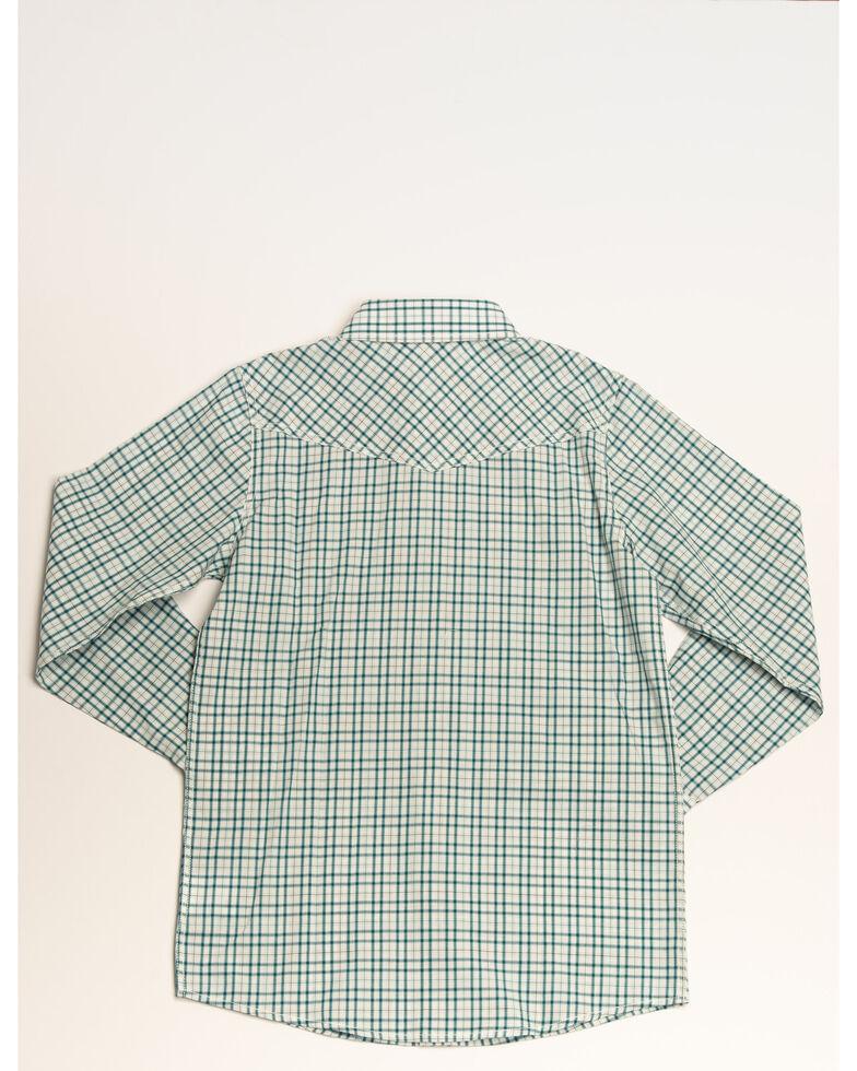 Cody James Boys' Grand City Yarn Dye Plaid Long Sleeve Western Shirt , White, hi-res