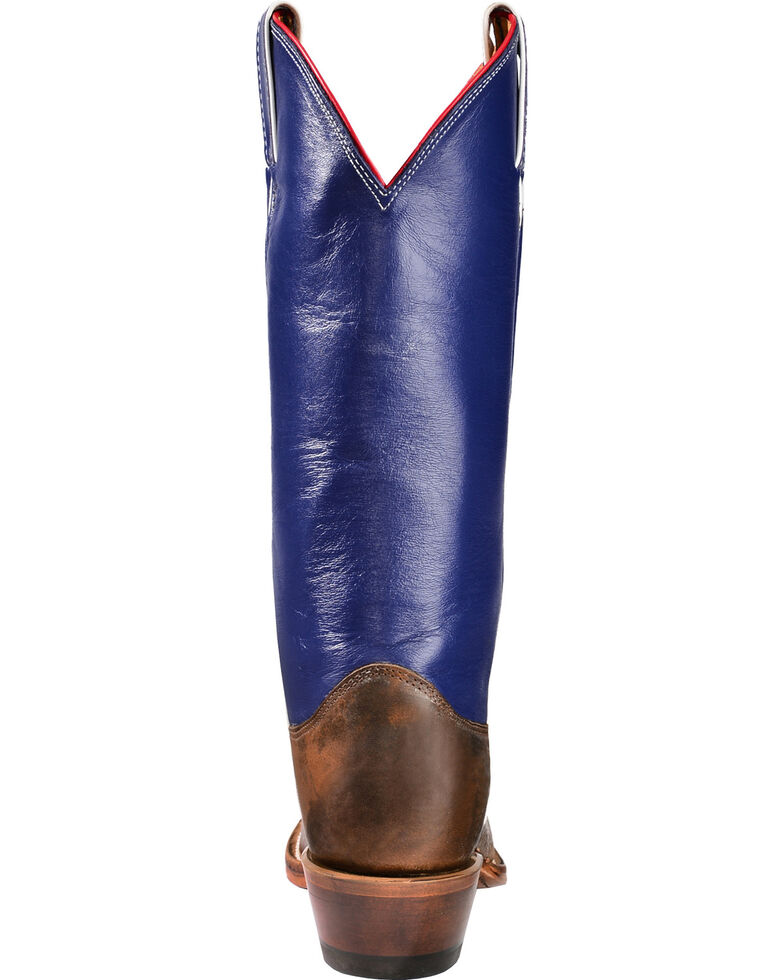 """Justin Boots """"Don't Mess with Texas"""" 13"""" Cowgirl Boots - Square Toe, Cognac, hi-res"""