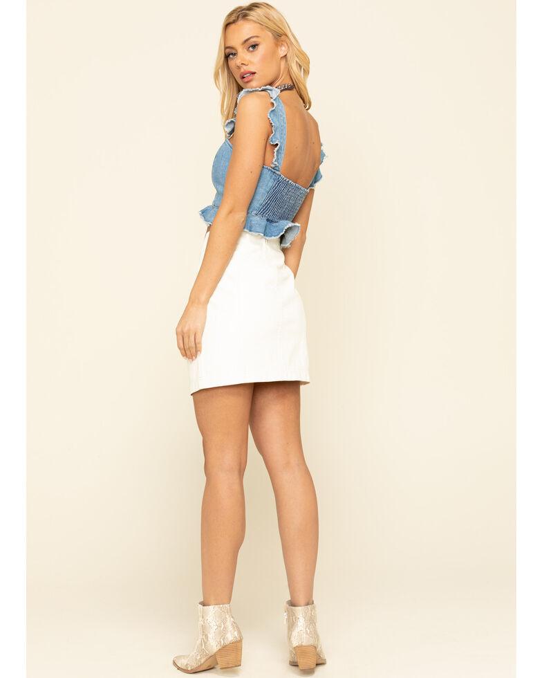 Free People Women's Modern Femme Vegan Mini Skirt , White, hi-res