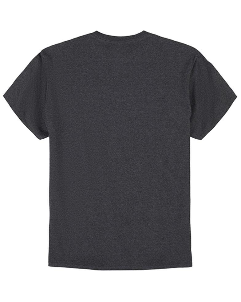 Wrangler Men's Charcoal Cowboy Bronco Graphic Short Sleeve T-Shirt , Charcoal, hi-res