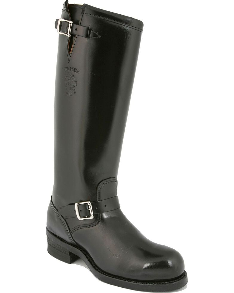 Chippewa Biker Boots - Steel Toe, Black, hi-res