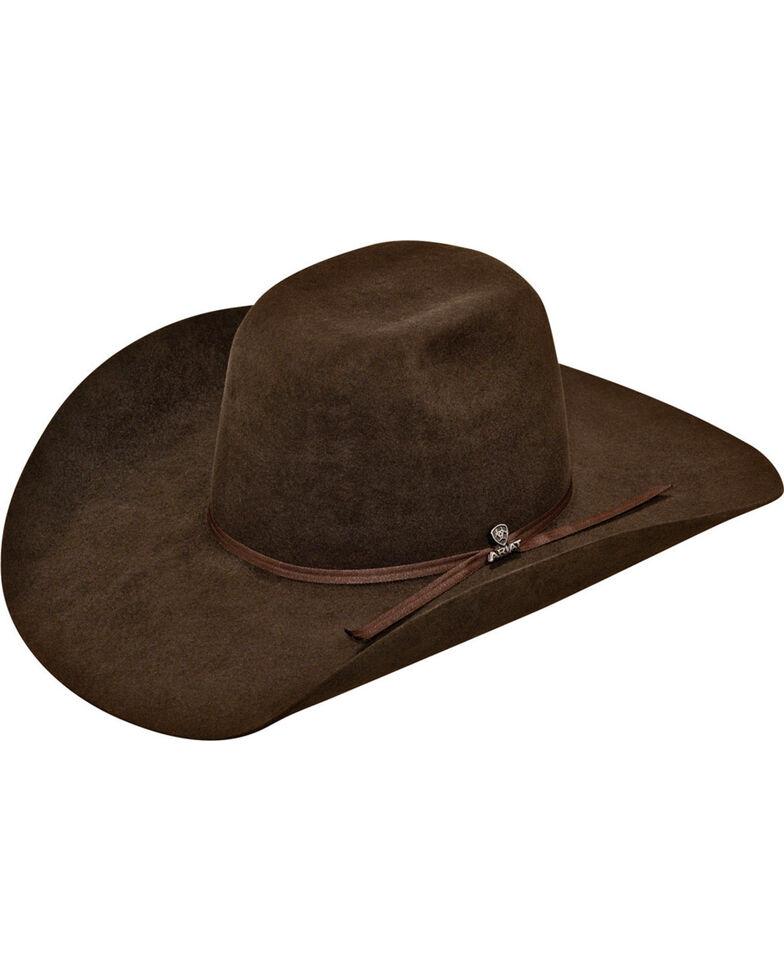 Ariat Men's 6X Fur Felt Cowboy Hat, Chocolate, hi-res