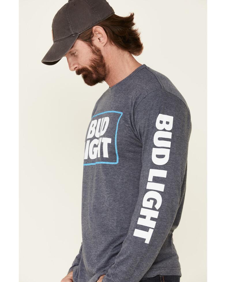 Brew City Beer Gear Men's Bud Light Logo Graphic Long Sleeve T-Shirt , Navy, hi-res