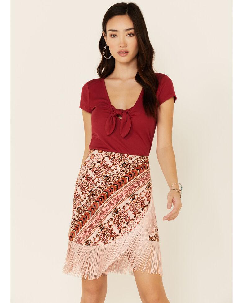 Idyllwind Women's Aztec Side Hustle Skirt, Blush, hi-res