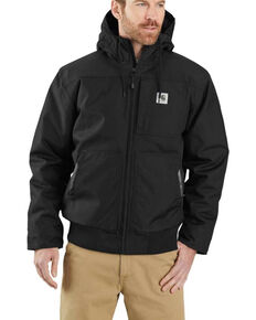 Carhartt Men's Black Yukon Extremes Insulated Hooded Active Work Jacket - Tall, Black, hi-res