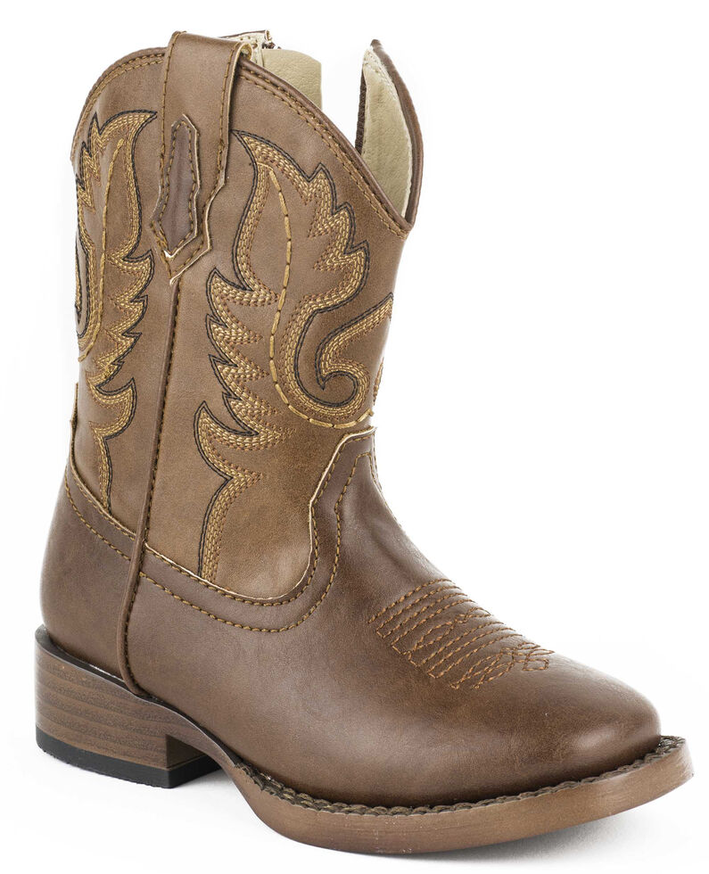 Roper Toddler Boys' Texson Boots - Square Boots, Brown, hi-res