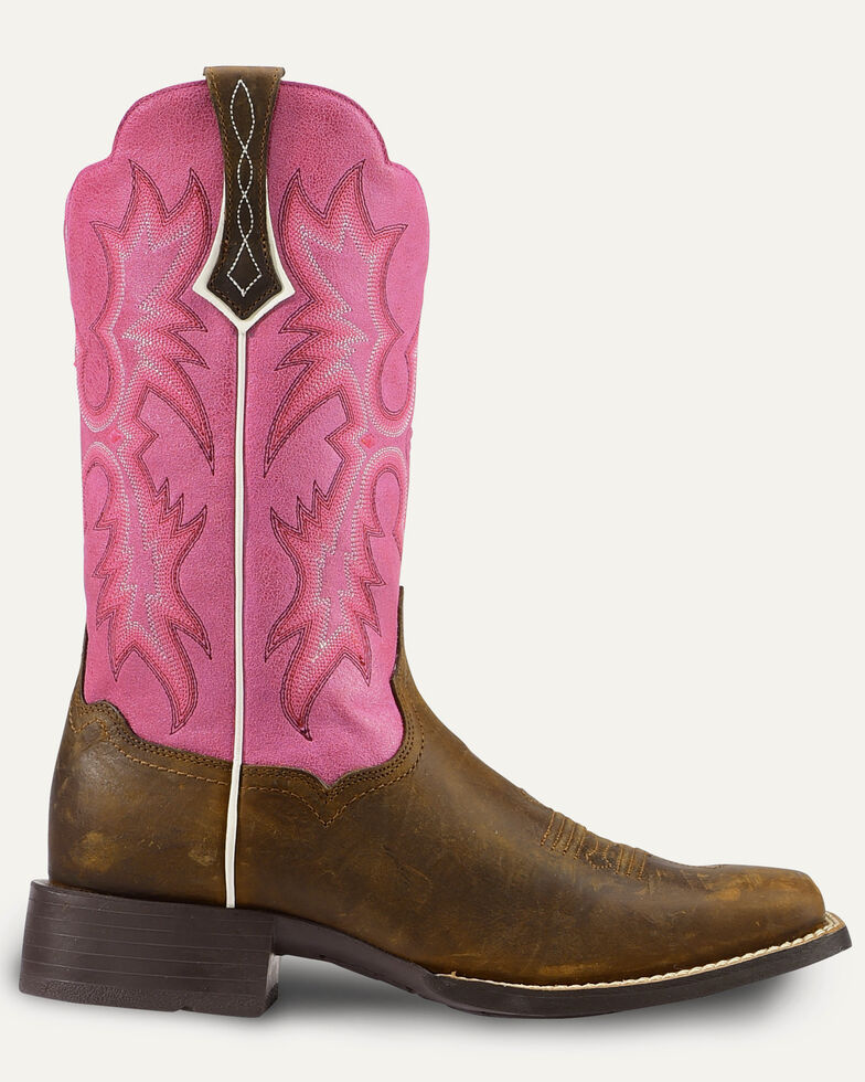 e61d27dff07 Ariat Women's Tombstone Passion Pink Western Boots - Square Toe