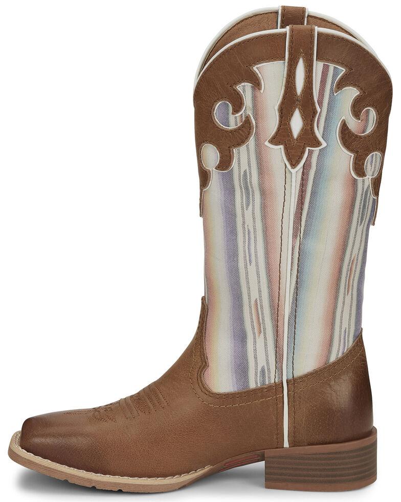 Justin Women's Lattie Square Toe Western Boots, Tan, hi-res