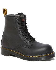 Dr. Martens Women's Maple Newark Work Boots - Steel Toe, Black, hi-res
