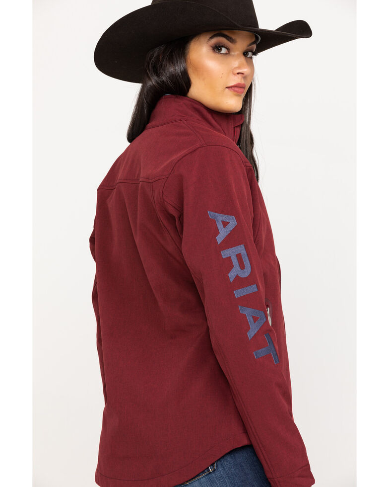 Ariat Women's Cabernet Heather Team Softshell Jacket, Red, hi-res