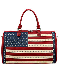 Montana West Women's American Pride Duffle Bag, Red, hi-res