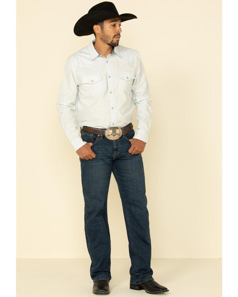 Cody James Men's Barrel Race Solid Long Sleeve Western Shirt , Light Blue, hi-res