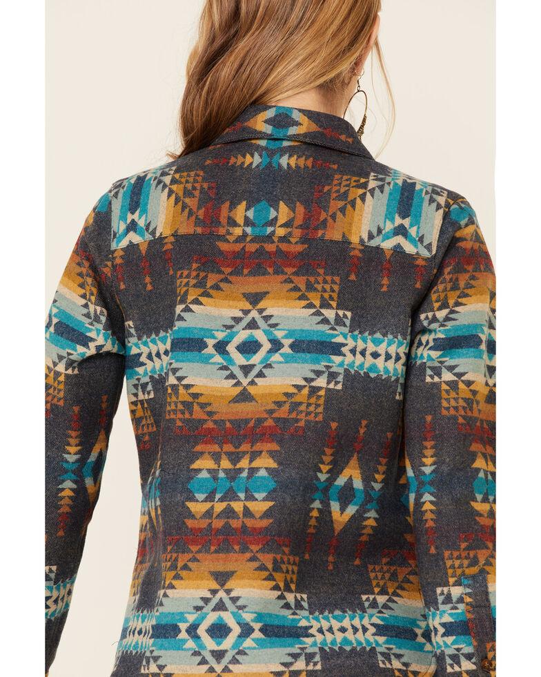 Pendleton Women's Blue Aztec Jacquard Lodge Long Sleeve Button-Down Western Core Shirt , Blue, hi-res