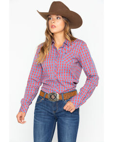 967bf8dadf170 Ariat Women s Gingham Button Down Long Sleeve Western Shirt