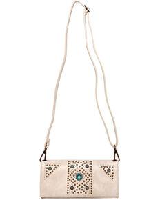 Montana West Aztec Crossbody Wallet, Beige/khaki, hi-res