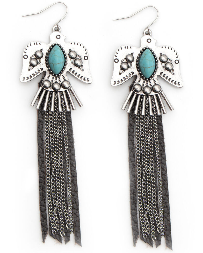 Cowgirl Confetti Women's Find Your Way Earrings, Silver, hi-res