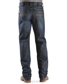 Cinch Men's Silver Label Dark Wash Slim Straight Jeans, Dark Stone, hi-res
